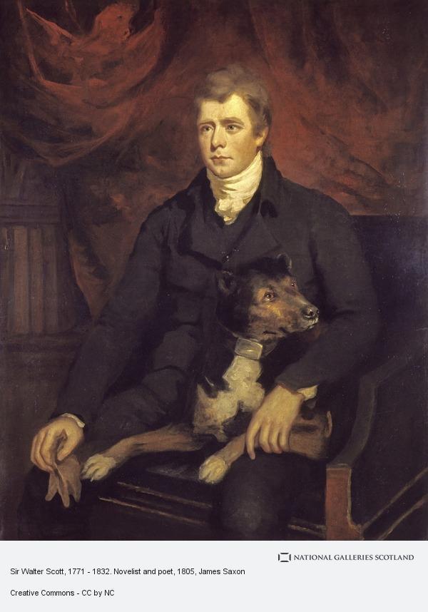 James Saxon, Sir Walter Scott, 1771 - 1832. Novelist and poet
