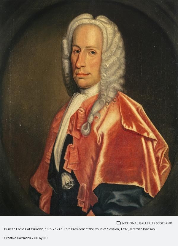 Jeremiah Davison, Duncan Forbes of Culloden, 1685 - 1747. Lord President of the Court of Session
