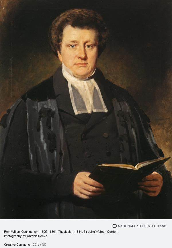 Sir John Watson Gordon, Rev. William Cunningham, 1805 - 1861. Theologian