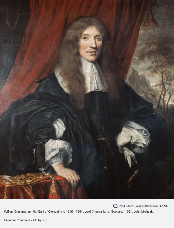John Michael Wright, William Cunningham, 8th Earl of Glencairn, c 1610 - 1664. Lord Chancellor of Scotland