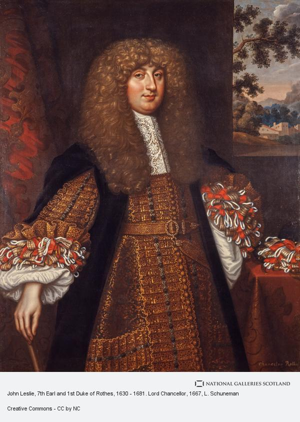 L. Schuneman, John Leslie, 7th Earl and 1st Duke of Rothes, 1630 - 1681. Lord Chancellor