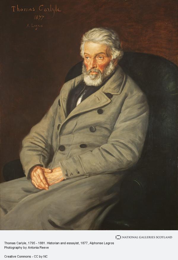 Alphonse Legros, Thomas Carlyle, 1795 - 1881. Historian and essayist