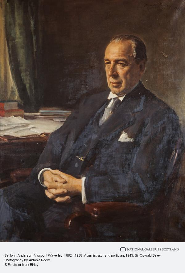 Sir Oswald Birley, Sir John Anderson, Viscount Waverley, 1882 - 1958. Administrator and politician