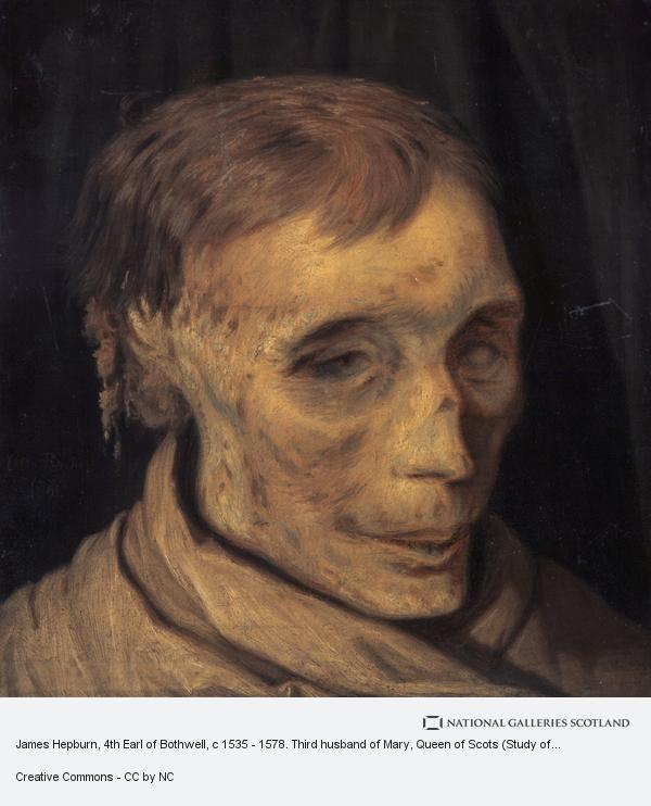 Otto Bache, James Hepburn, 4th Earl of Bothwell, c 1535 - 1578. Third husband of Mary, Queen of Scots (Study of mummified head)