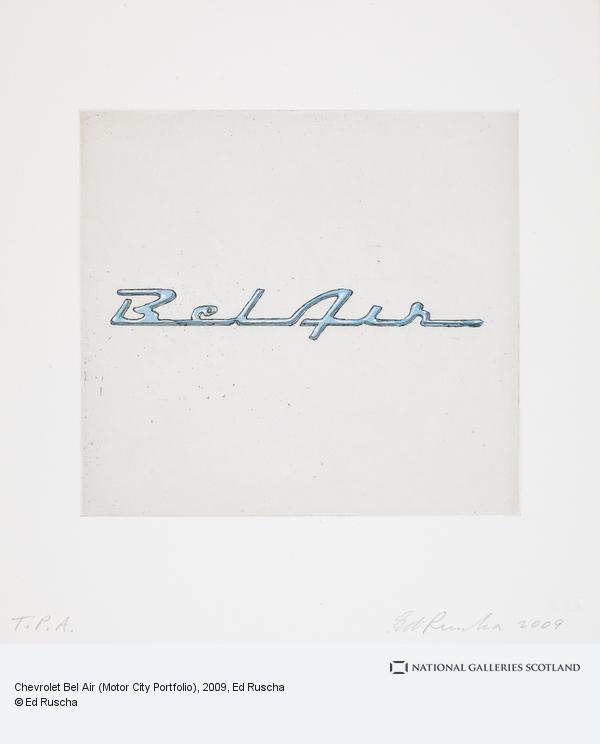 Ed Ruscha, Chevrolet Bel Air (Motor City Portfolio) (2009)