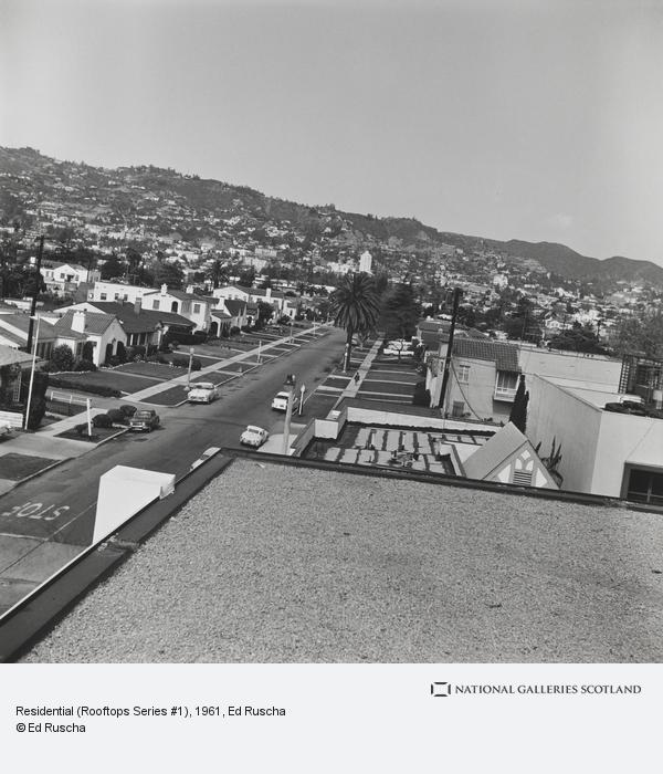 Ed Ruscha, Residential (Rooftops Series #1) (1961 / 2004)