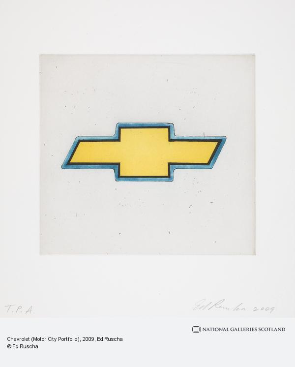 Ed Ruscha, Chevrolet (Motor City Portfolio) (2009)
