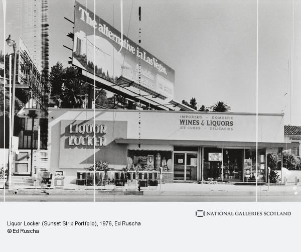 Ed Ruscha, Liquor Locker (Sunset Strip Portfolio) (1976 / 1995)