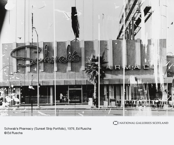 Ed Ruscha, Schwab's Pharmacy (Sunset Strip Portfolio) (1976 / 1995)