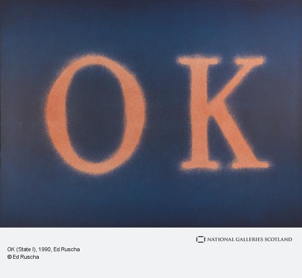 Ed Ruscha, OK (State I) (1990)