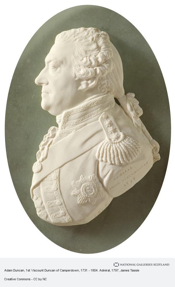James Tassie, Adam Duncan, 1st Viscount Duncan of Camperdown, 1731 - 1804. Admiral