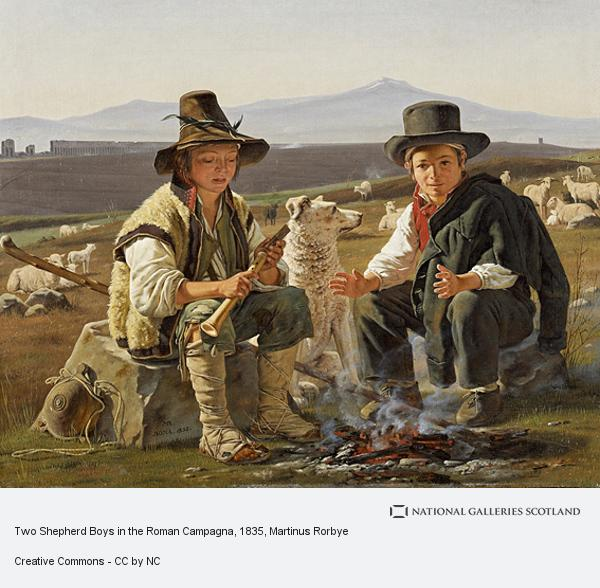 Martinus Rørbye, Two Shepherd Boys in the Roman Campagna