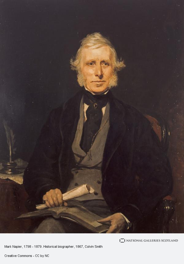 Colvin Smith, Mark Napier, 1798 - 1879. Historical biographer