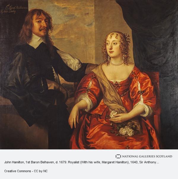 Sir Anthony van Dyck, John Hamilton, 1st Baron Belhaven, d. 1679. Royalist (With his wife, Margaret Hamilton)