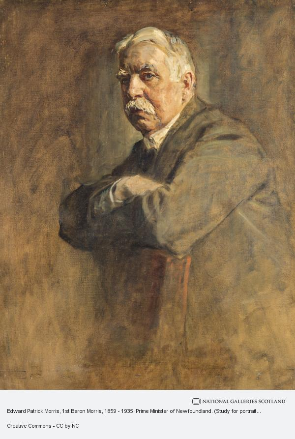 Sir James Guthrie, Edward Patrick Morris, 1st Baron Morris, 1859 - 1935. Prime Minister of Newfoundland. (Study for portrait in Statesmen of the Great War)