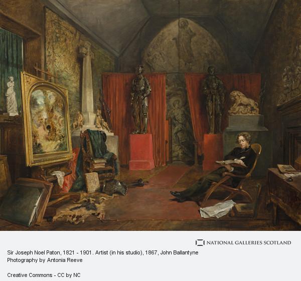 John Ballantyne, Sir Joseph Noel Paton, 1821 - 1901. Artist (in his studio)