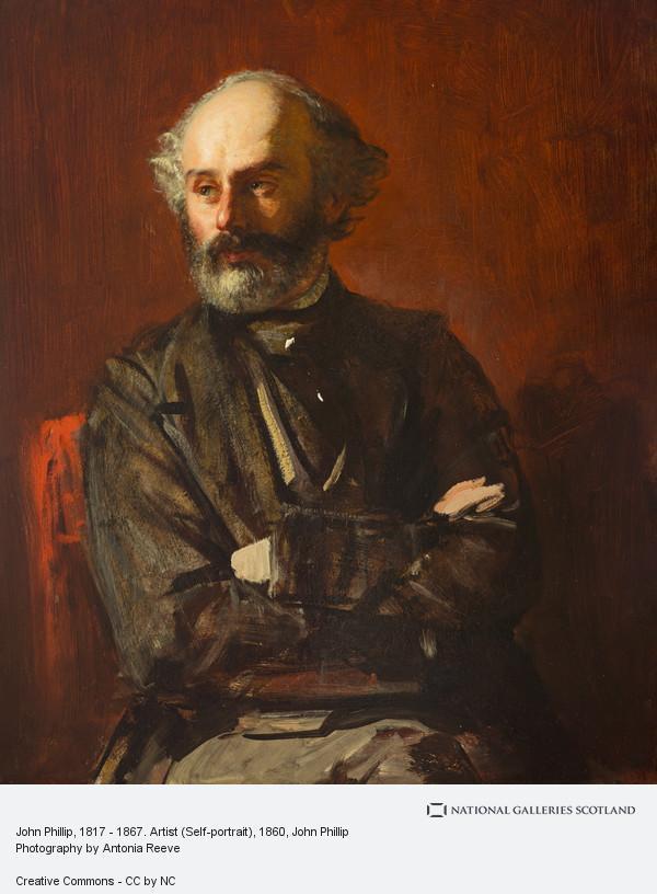 John Phillip, John Phillip, 1817 - 1867. Artist (Self-portrait)