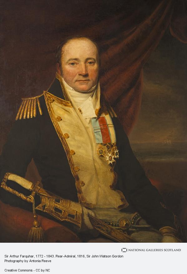 Sir John Watson Gordon, Sir Arthur Farquhar, 1772 - 1843. Rear-Admiral