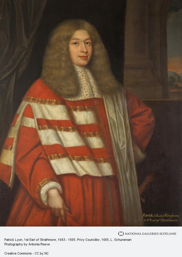 L. Schuneman, Patrick Lyon, 1st Earl of Strathmore, 1643 - 1695. Privy Councillor