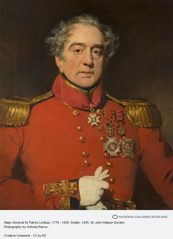 Sir John Watson Gordon, Major-General Sir Patrick Lindsay, 1778 - 1839. Soldier