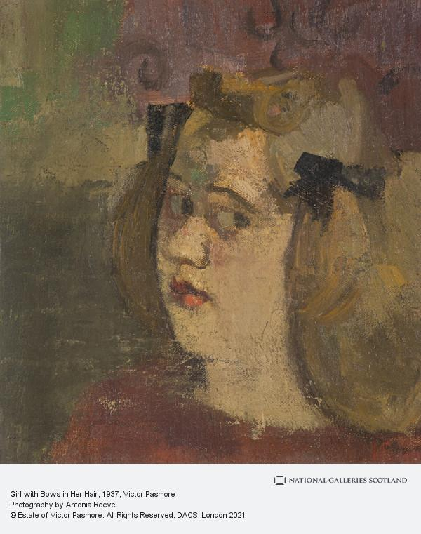 Victor Pasmore, Girl with Bows in Her Hair