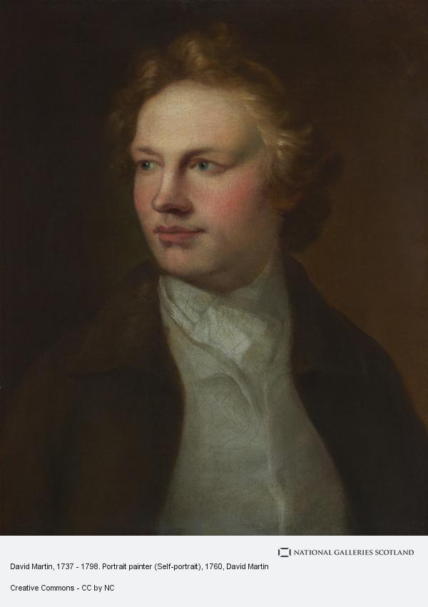 David Martin, David Martin, 1737 - 1798. Portrait painter (Self-portrait)