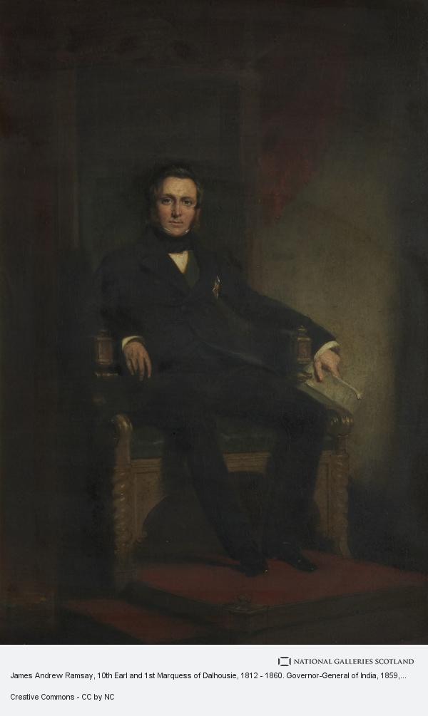 Sir John Watson Gordon, James Andrew Ramsay, 10th Earl and 1st Marquess of Dalhousie, 1812 - 1860. Governor-General of India
