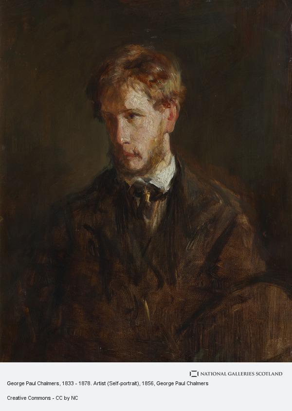 George Paul Chalmers, George Paul Chalmers, 1833 - 1878. Artist (Self-portrait)