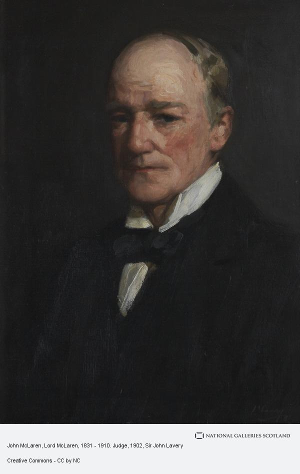Sir John Lavery, John McLaren, Lord McLaren, 1831 - 1910. Judge