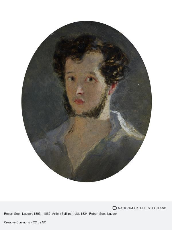 Robert Scott Lauder, Robert Scott Lauder, 1803 - 1869. Artist (Self-portrait)