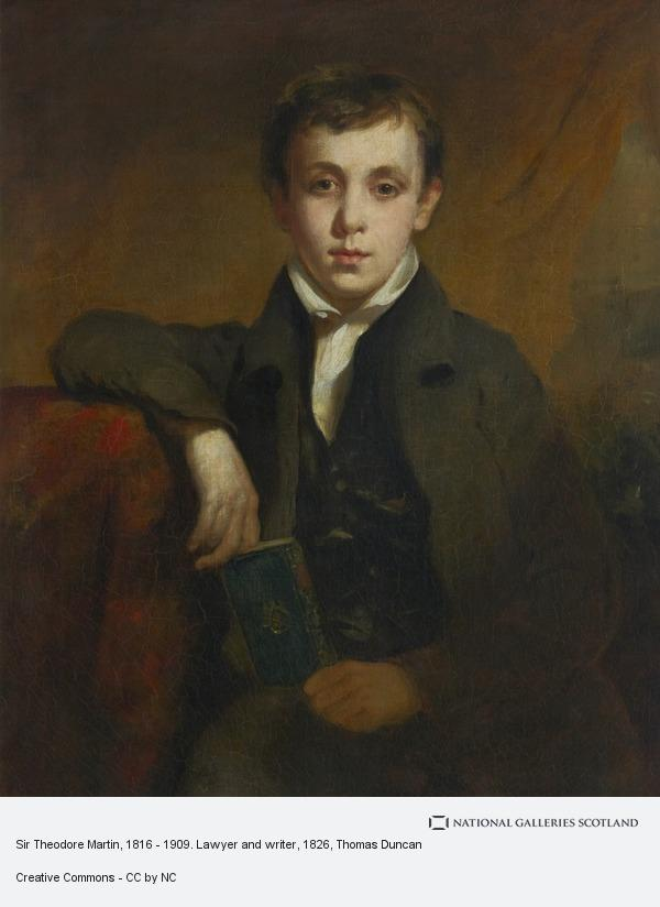 Thomas Duncan, Sir Theodore Martin, 1816 - 1909. Lawyer and writer