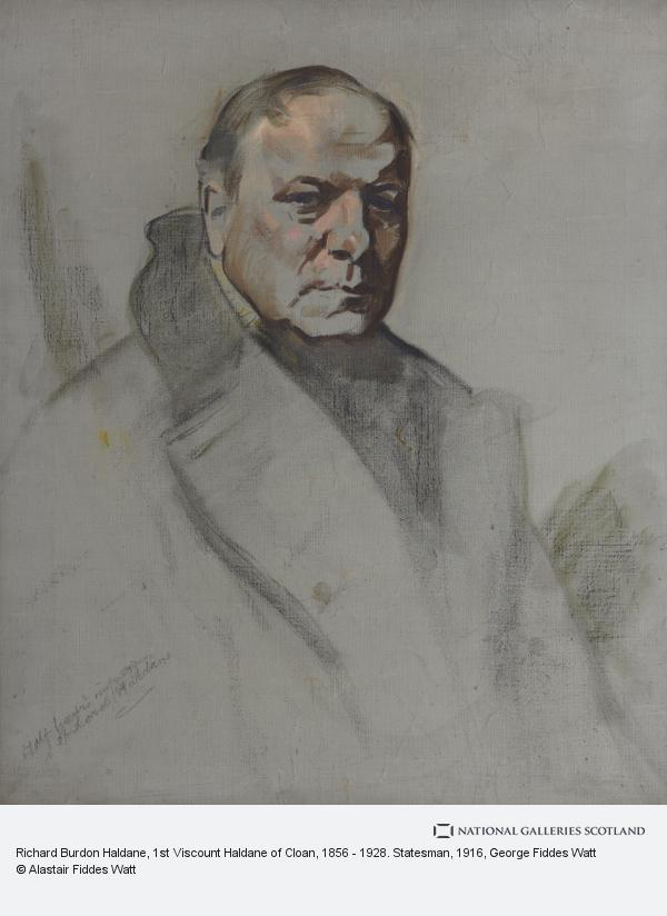 George Fiddes Watt, Richard Burdon Haldane, 1st Viscount Haldane of Cloan, 1856 - 1928. Statesman