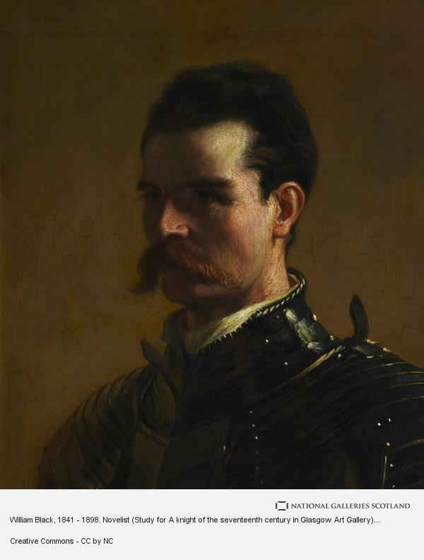 John Pettie, William Black, 1841 - 1898. Novelist (Study for A knight of the seventeenth century in Glasgow Art Gallery)