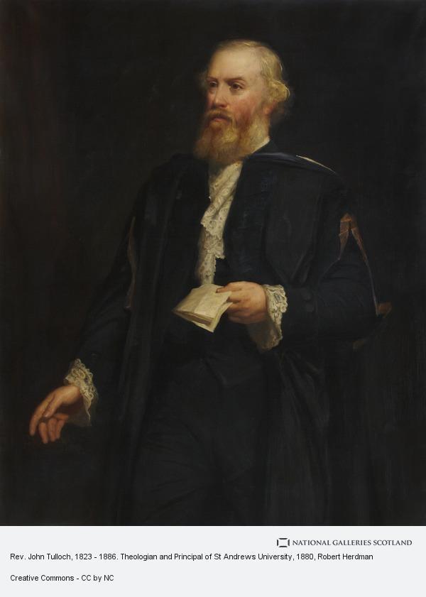 Robert Herdman, Rev. John Tulloch, 1823 - 1886. Theologian and Principal of St Andrews University