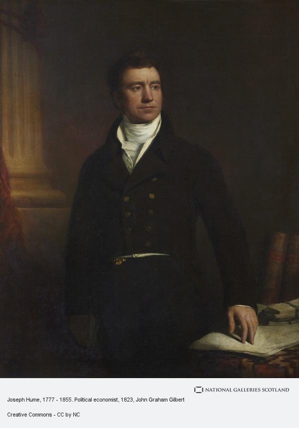 John Graham Gilbert, Joseph Hume, 1777 - 1855. Political economist