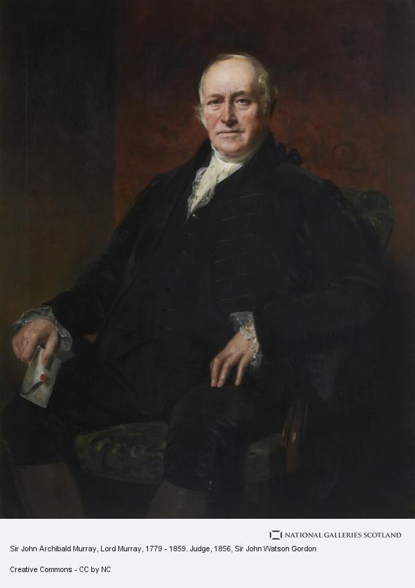 Sir John Watson Gordon, Sir John Archibald Murray, Lord Murray, 1779 - 1859. Judge