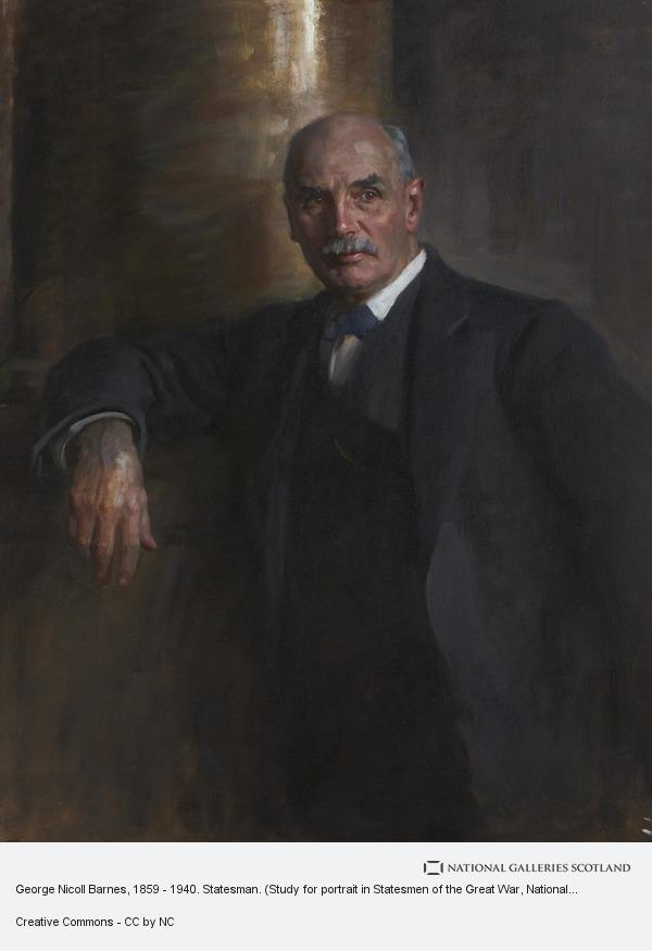 Sir James Guthrie, George Nicoll Barnes, 1859 - 1940. Statesman. (Study for portrait in Statesmen of the Great War, National Portrait Gallery, London)