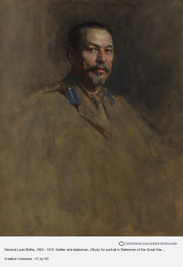 Sir James Guthrie, General Louis Botha, 1863 - 1919. Soldier and statesman. (Study for portrait in Statesmen of the Great War, National Portrait Gallery, London)