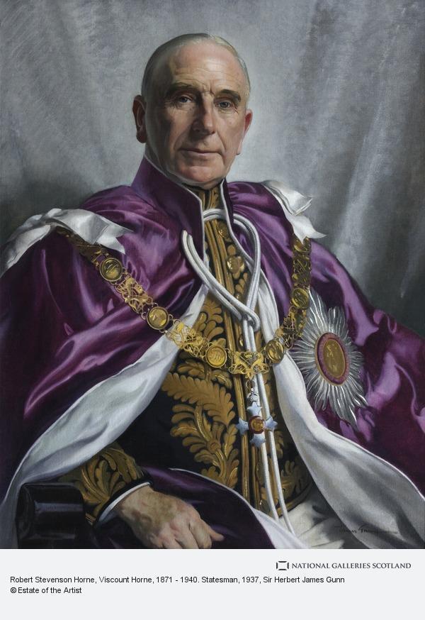 Sir Herbert James Gunn, Robert Stevenson Horne, Viscount Horne, 1871 - 1940. Statesman