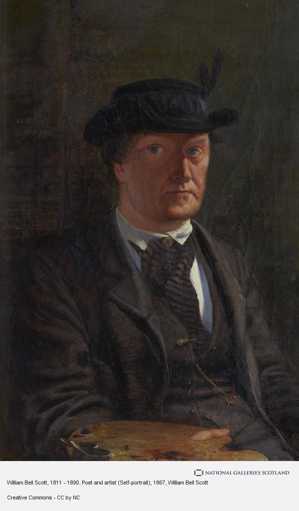 William Bell Scott, William Bell Scott, 1811 - 1890. Poet and artist (Self-portrait)