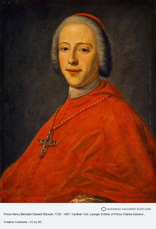 Unknown, Prince Henry Benedict Clement Stuart, 1725 - 1807. Cardinal Duke of