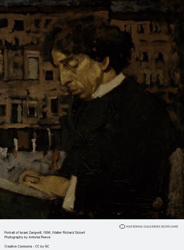 Walter Richard Sickert, Portrait of Israel Zangwill