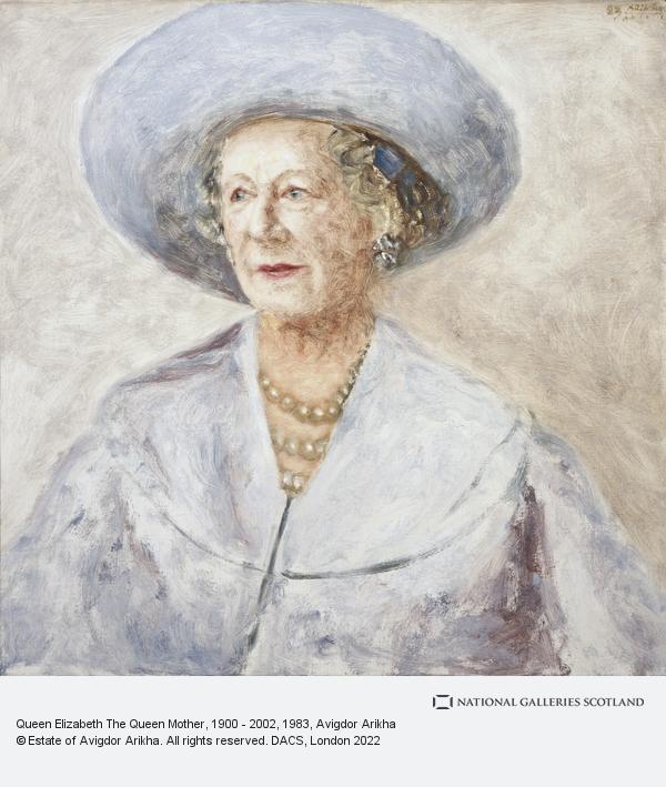 Avigdor Arikha, Elizabeth, the Queen Mother, 1900 - 2002. Queen of George VI (1983)