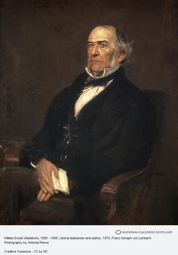 Franz-Seraph von Lenbach, William Ewart Gladstone, 1809 - 1898. Liberal statesman and author