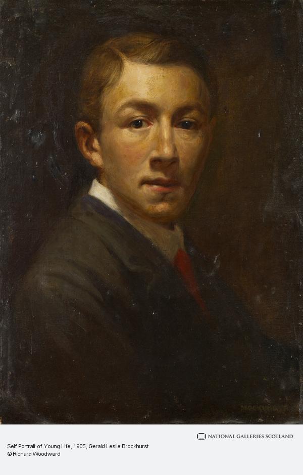 Gerald Leslie Brockhurst, Self Portrait of Young Life