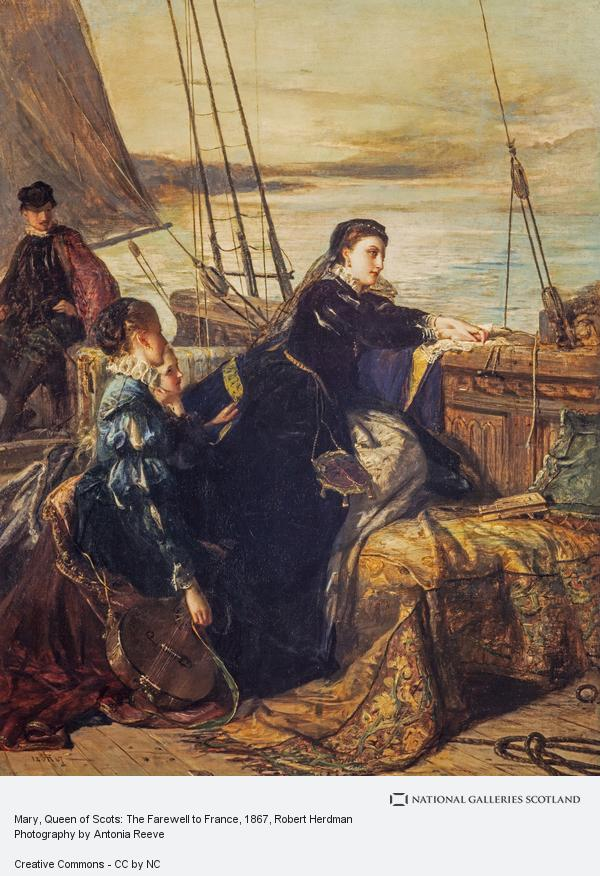 Robert Herdman, Mary, Queen of Scots: The Farewell to France