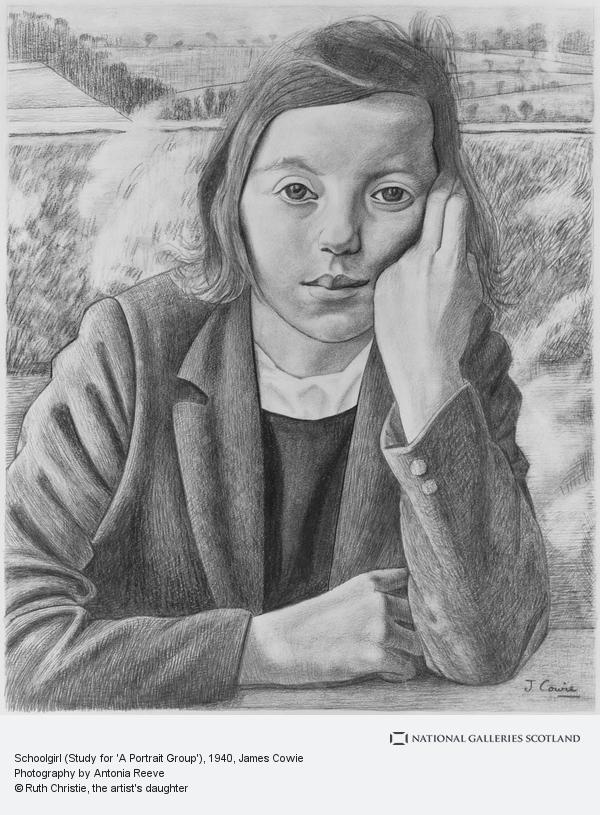 James Cowie, Schoolgirl (Study for 'A Portrait Group')