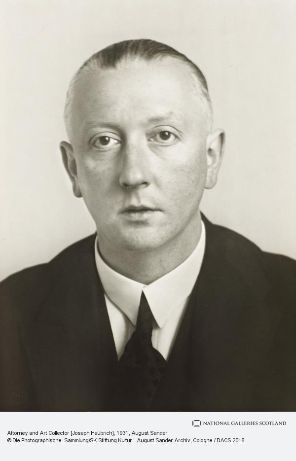 August Sander, Attorney and Art Collector [Joseph Haubrich], 1931 (1931)