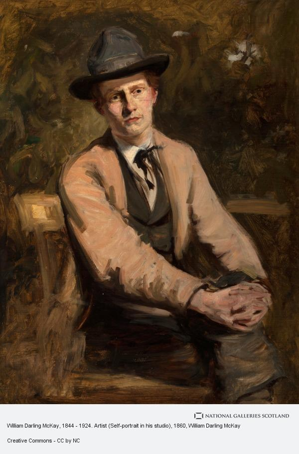 William Darling McKay, William Darling McKay, 1844 - 1924. Artist (Self-portrait in his studio)