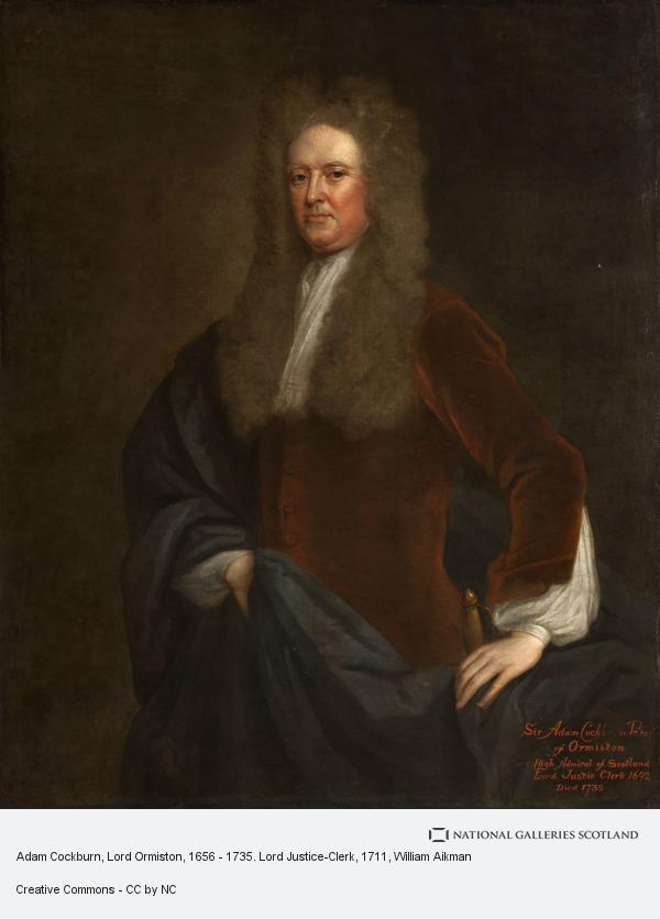William Aikman, Adam Cockburn, Lord Ormiston, 1656 - 1735. Lord Justice-Clerk